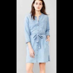 Gap Chambray Shirt Dress Size Small